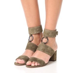 AQUAZZURA Safari Suede Ankle-Strap Sandals